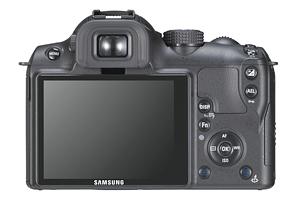 Foto der Rückseite der NX10 von Samsung