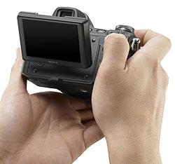 Foto der Cyber-shot DSC-H50 mit Klapp-Monitor
