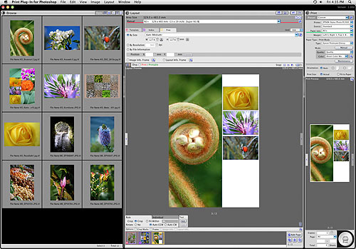 Screenshot des Photoshop Print Plug-ins von Epson