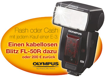 "Olympus-Aktion ""Flash oder Cash"""