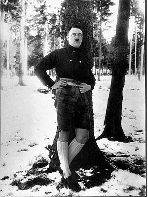 Hitler mit Lederhose; Foto Heinrich Hoffman
