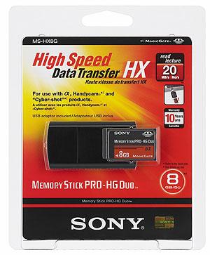 Foto  von Sonys MS PRO-HG Duo HX mit 8GB