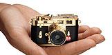 Foto der DCC Leica M3 Gold Edition von Minox