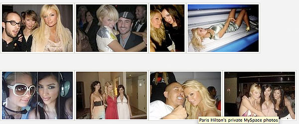 Fotos aus Paris Hiltons MySpace-Profil