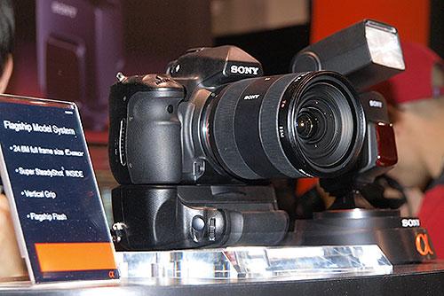Foto des Sony-Vollformat-Protoypen auf der PMA 2008
