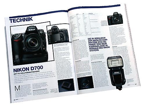 Beweisfoto - ProfiFoto 7-8/08; Seiten 86+87