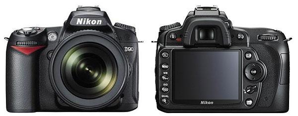 Foto der Front- und Rückseite der Nikon D90