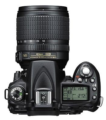 Foto der Oberseite der Nikon D90