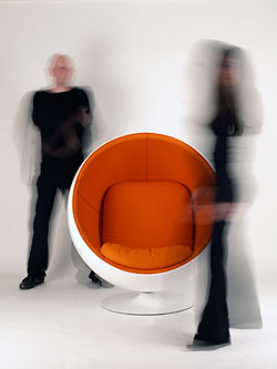 Foto-Shooting im Ball Chair