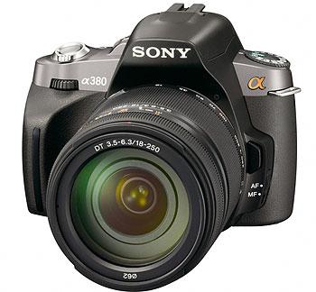 Foto der α380 von Sony