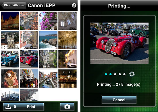 Screenshots von Easy-PhotoPrint for iPhone von Canon