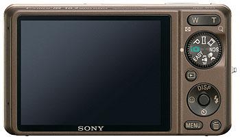 Foto der Rückseite der Cyber-shot DSC-WX1 von Sony