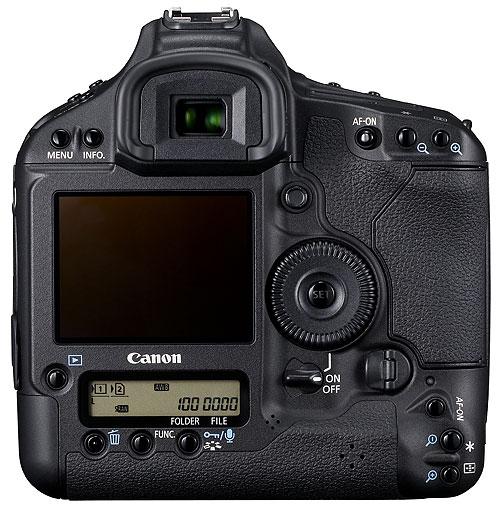 Foto der Rückseite der EOS-1D Mark IV von Canon