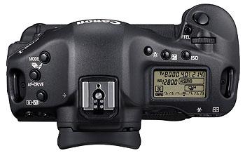 Foto der Oberseite der EOS-1D Mark IV von Canon