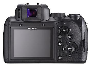 Foto der Rückseite der FinePix S200EXR von Fujifilm