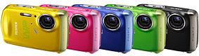 Foto der Farbvarianten der FinePix Z33WP von Fujifilm