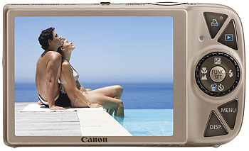 Foto der Rückseite der Digital Ixus 990 IS von Canon