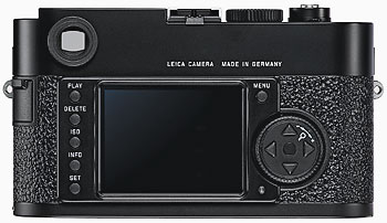 Foto der Rückseite der M9 von Leica