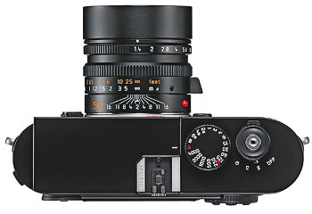 Foto der Oberseite der M9 von Leica
