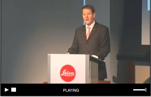 Screenshot von der Leica-Pressekonferenz in New York