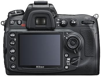 Foto der Rückseite der D300s von Nikon