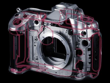 Schema der Gehäuseabdichtungen der D300s von Nikon