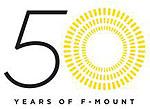 Logo 50 Jahre Nikon F Bajonett