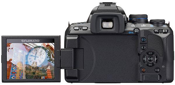 Foto der Rückseite der E-620 von Olympus