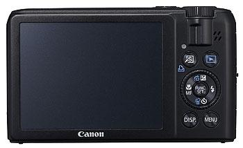 Foto der Rückseite der PowerShot S90 von Canon