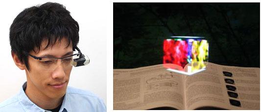 Funktionsschema der Retina-Projektionsbrille von Brother