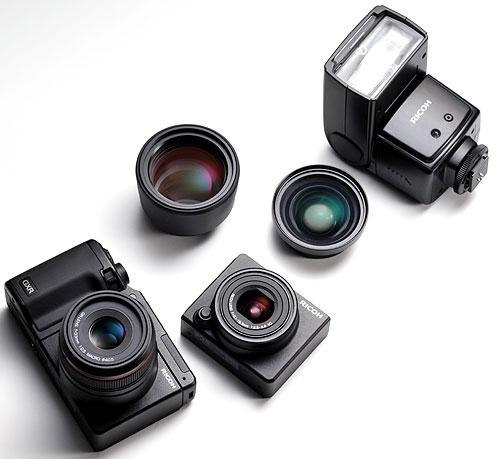 Foto von Systemkomponenten der GXR von Ricoh