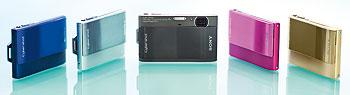 Foto der Farbvarianten der TX1 von Sony