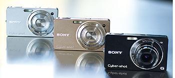 Foto der Farbvarianten der WX1 von Sony