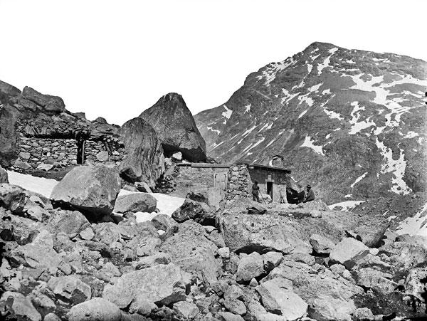 Foto Jules Beck: Bovalhütte, 1879