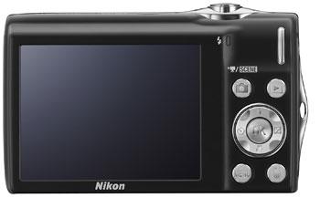 Foto der Rückseite der Coolpix S3000 von Nikon