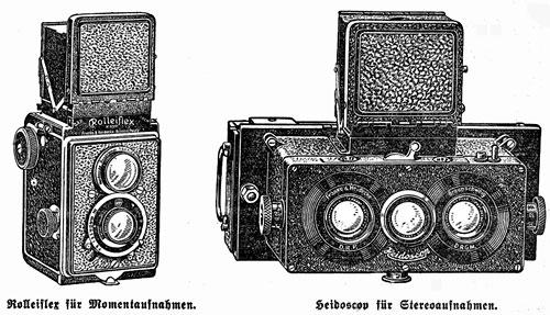 ausriss; Werbung für Rolleiflex und Heidoscop