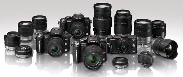 Foto des Lumix-G-Systems von Panasonic
