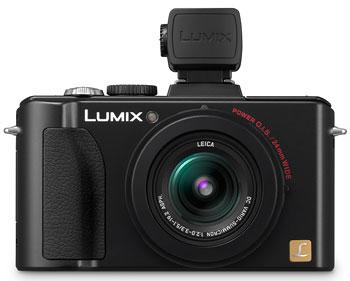 Foto der Lumix LX5 mit DMW-LVF1 von Panasonic