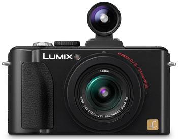 Foto der Lumix LX5 mit DMW-VF1 von Panasonic
