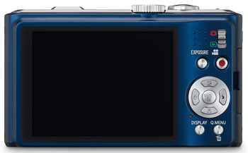 Foto der Rückseite der Lumix DMC-TZ10 von Panasonic