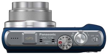 Foto der Oberseite der Lumix DMC-TZ10 von Panasonic