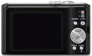 Foto der Rückseite der Lumix TZ8 von Panasonic