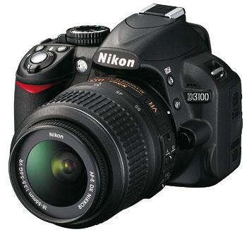 Foto der D3100 von Nikon