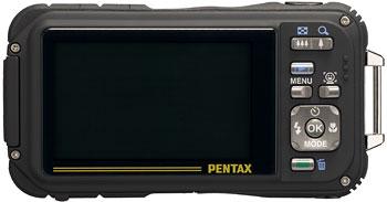 Foto der Rückseite der Optio W90 von Pentax