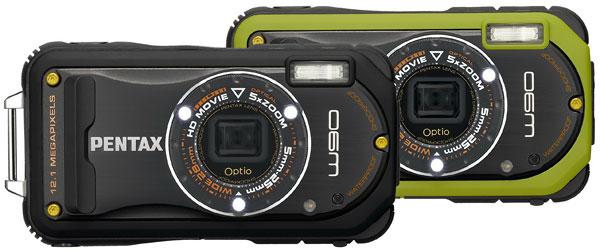 Foto der Farbvarianten der Optio W90 von Pentax
