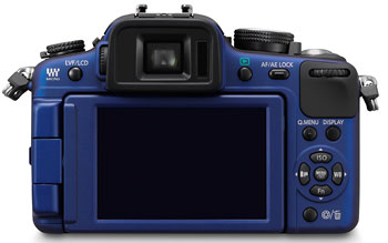 Foto der Rückseite der Lumix G2 von Panasonic