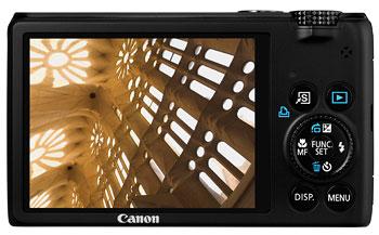 Foto der Rückseite der PowerShot S95 von Canon