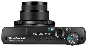 Foto der Oberseite der PowerShot S95 von Canon