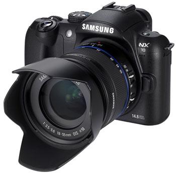 Foto der NX10 von Samsung