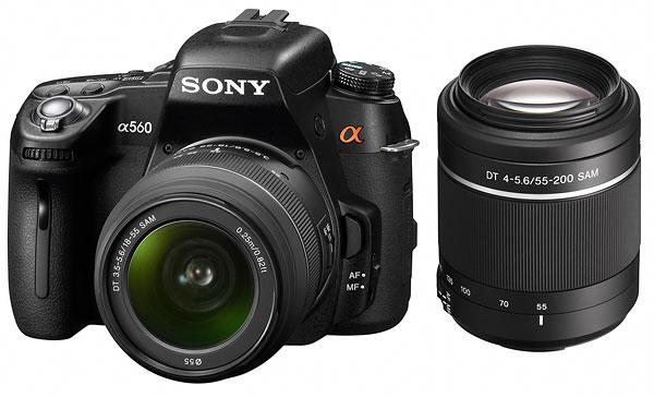 Foto der alpha 560 von Sony